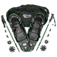 2513A - Bigfoot Adventure Package with Green Aluminum Snowshoes