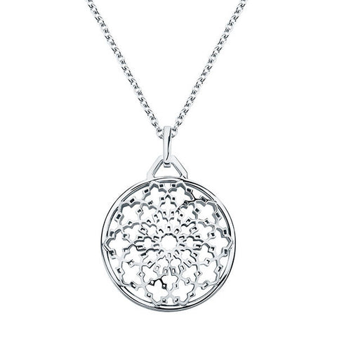 4005A - Birks Muse Sterling Silver Medallion Pendant