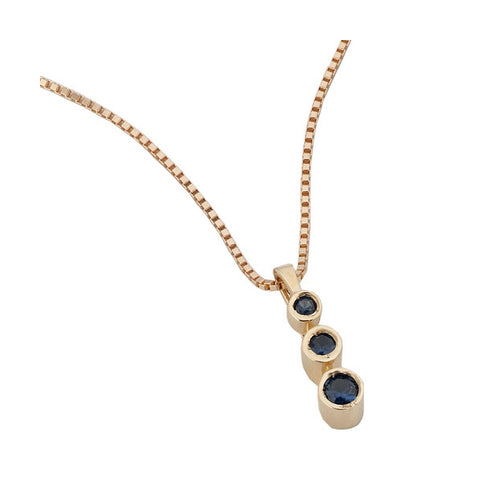 4005B - Birks Business Collection Trinity Sapphire Pendant