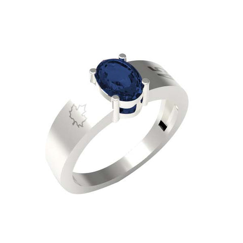 4501C - Birks Business Collection Sterling Silver Sapphire Ring for Ladies