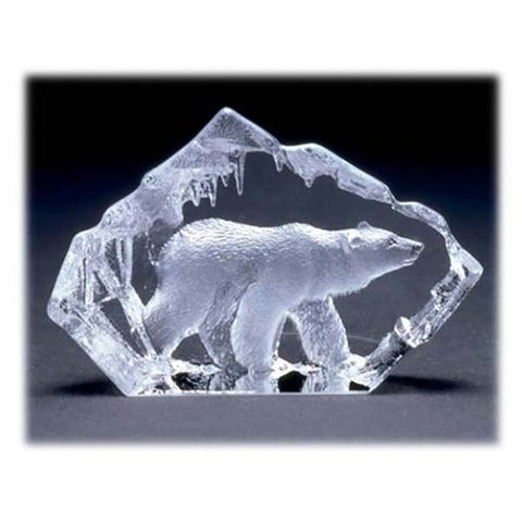 B1003 - Crystal Polar Bear Sculpture