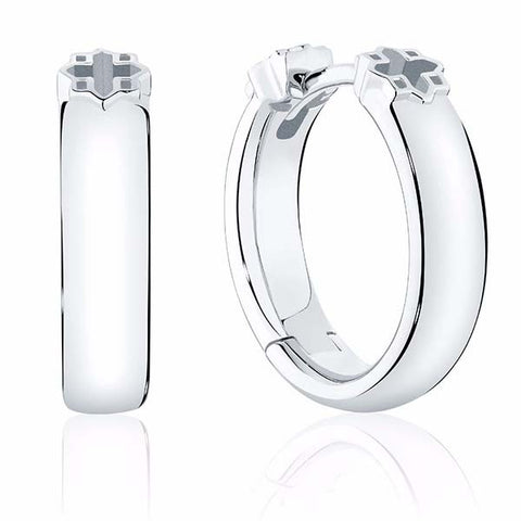 C2505 - Birks Muse® 15mm Polish Silver Hoop Earrings