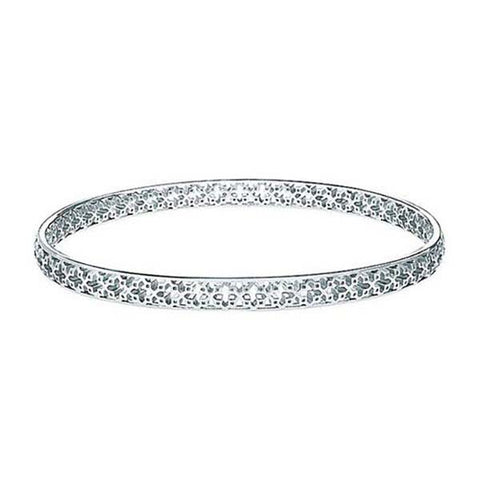 C3004 - Birks Muse Sterling Silver Pierced Pattern Bangle