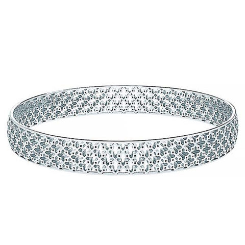 C5004 - Birks Muse™ Sterling Silver Pierced Pattern Wide Bangle