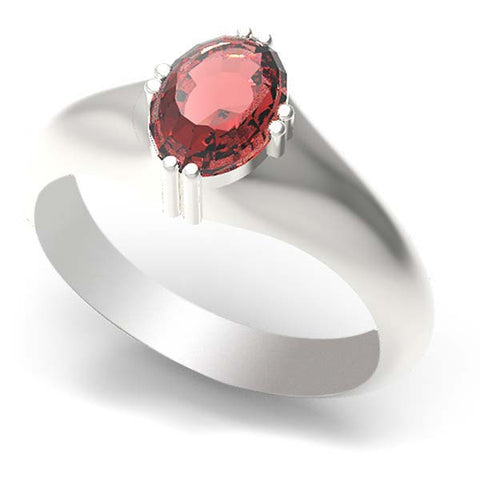 CRT10-191 - Birks Business Collection Sterling Silver and 10 Karat Gold Ruby Ring for Ladies