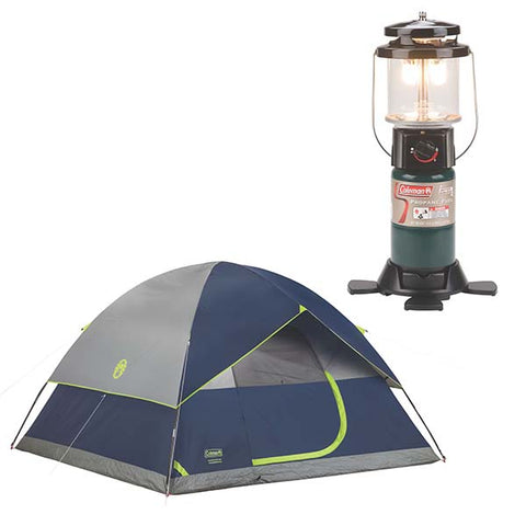 D2501 - Coleman Sundome® 6-Person Tent and 2 Mantle PerfectFlow™ Lantern