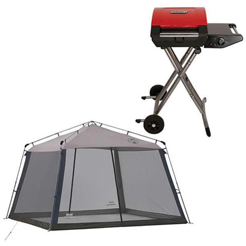 D4502 - Coleman® Propane Grill and Coleman® Instant Screen House