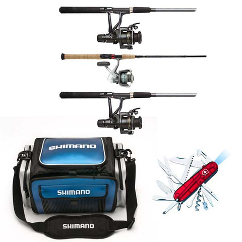 D5002 - Sojourn Fishing Set with 3 Utility Boxes and Huntsman Knife