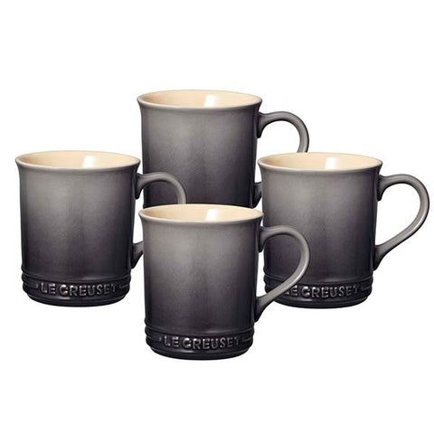 E1004 - Le Creuset Set of 4 Mugs - Oyster