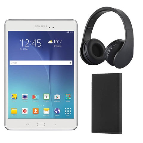 "G5002 - Samsung Galaxy Tab A 8.0"" 16GB with Powerbank and Bluetooth Headphones"
