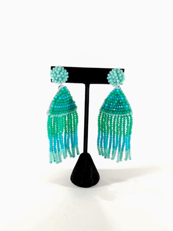 Sass With A Class Earrings-Mint