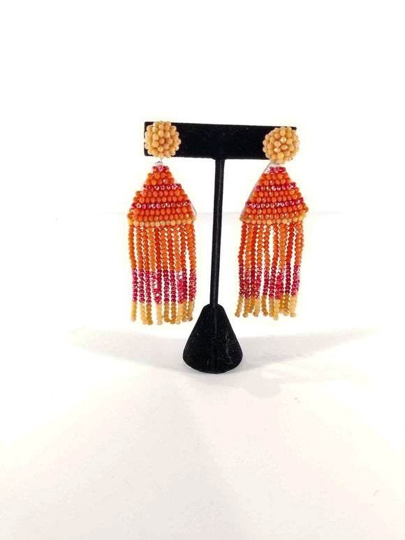 Sass With A Class Earrings-Orange
