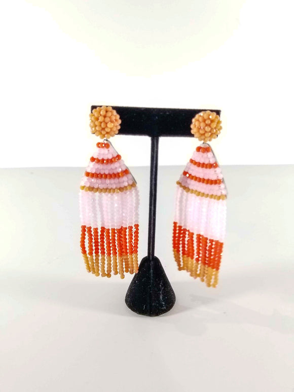 Sass With A Class Earrings-Pink/Orange