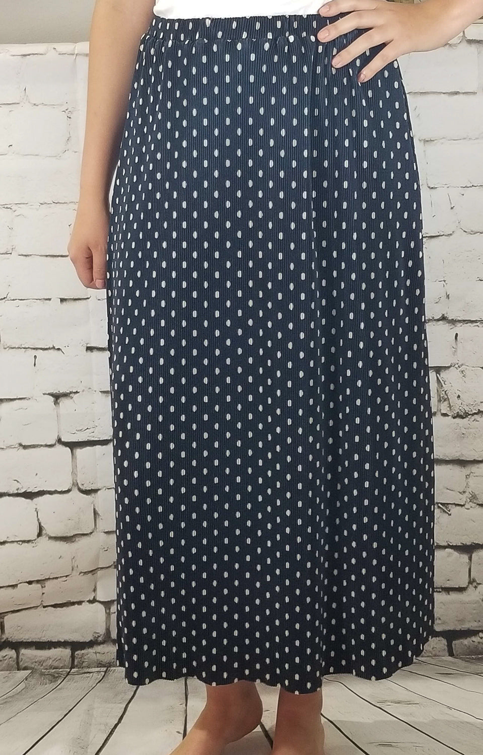 Catherine Midi Skirt-Dark Navy