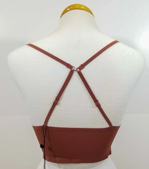 Racer Back Bralette-Wood Rose