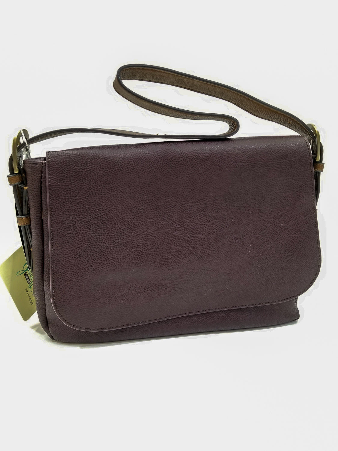 In Line With Style Purse In Eggplant