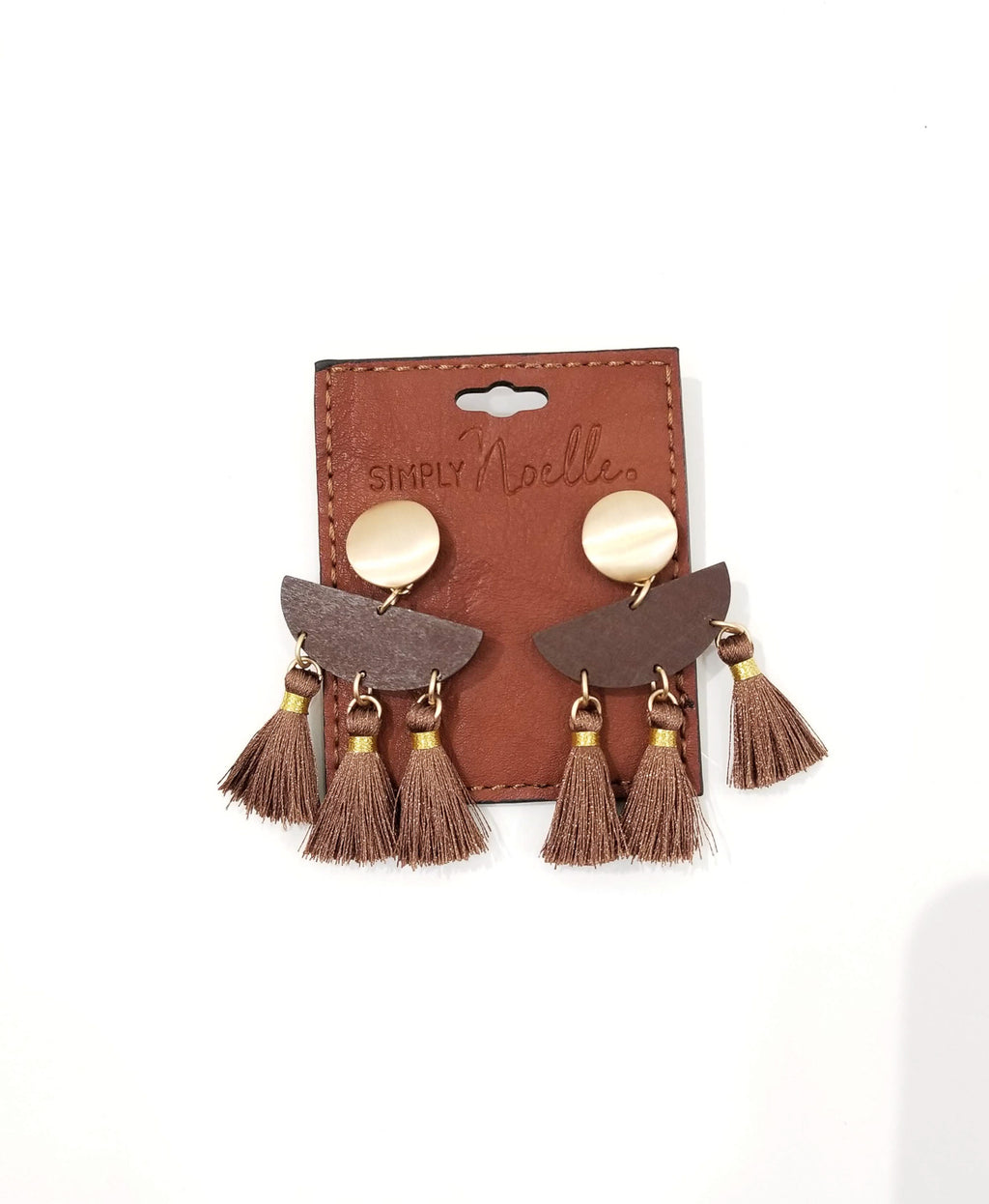 Tuscan Earrings-Brown