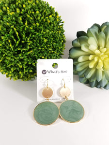 Leah Earrings In Mint