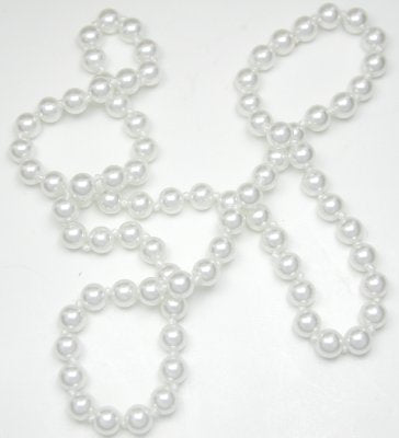 30″ 8mm Pearl Rope Necklace In Cream