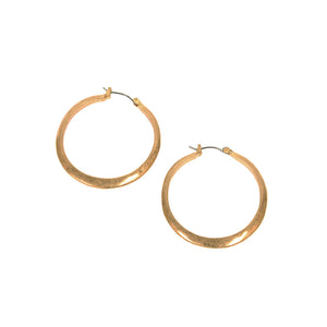 Hammered Hoop Earring In Gold