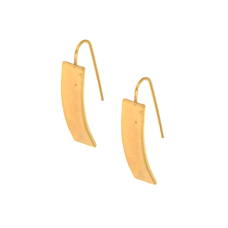 Rectangle Threader Earring In Gold