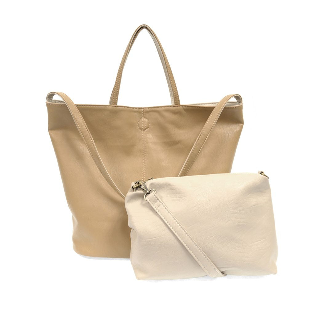 Riley Reversible Slouchy Tote In Camel