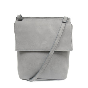 Aimee Front Flap Crossbody In Chambray