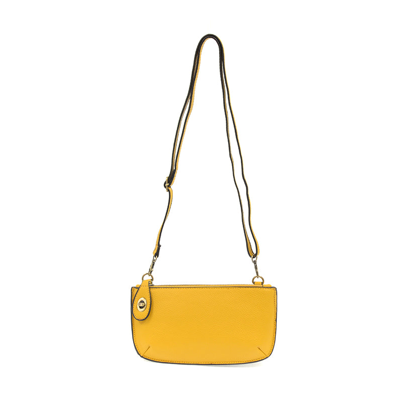 Mini Crossbody Wristlet Clutch In Yellow