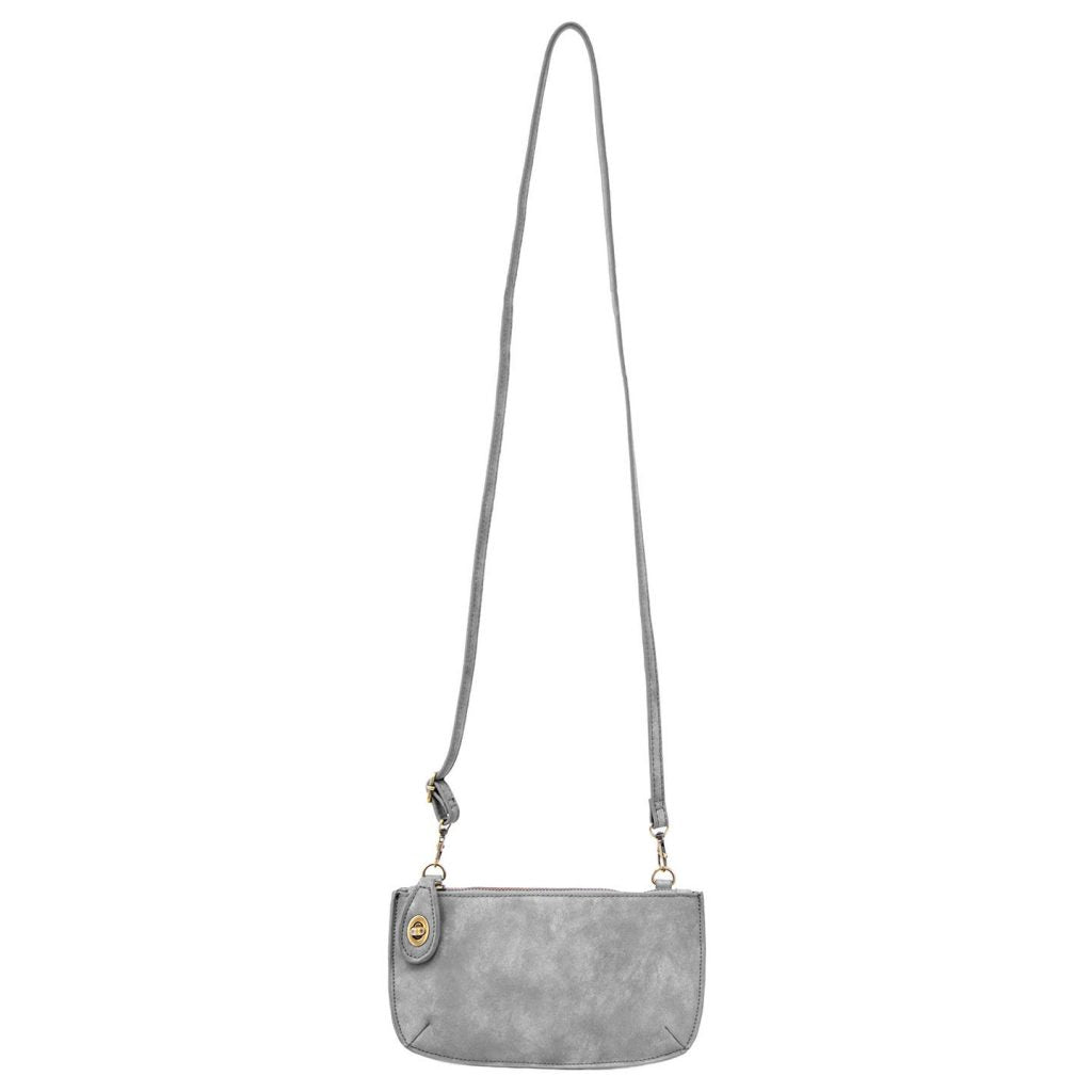Lux Crossbody Wristlet Clutch In Storm Grey
