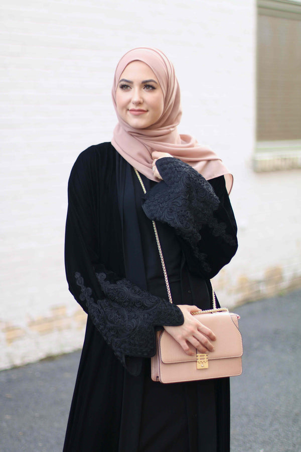 Leena Asad in the Lujain Abaya by Arabesque Abayas Online