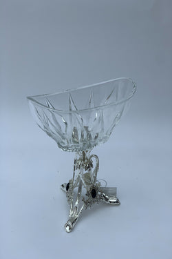 Glass Bowl with Silver Effect Stand