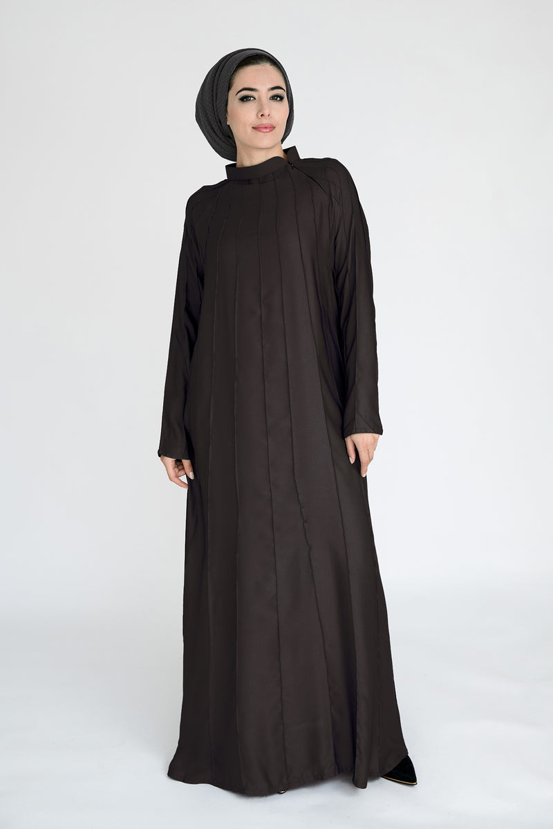 Aram Dark Brown Abaya