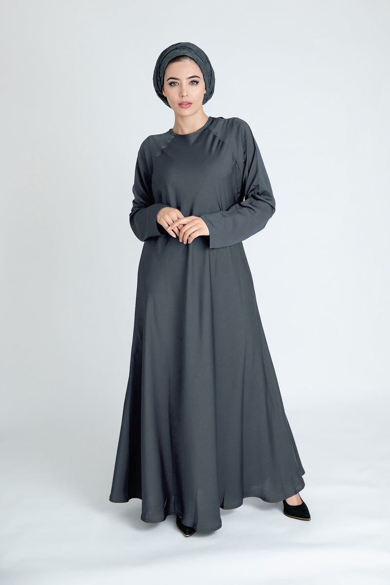 Dark Grey Umbrella Abaya Online