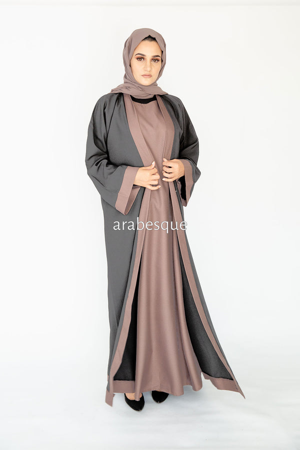 Errai Grey Closed Abaya Online