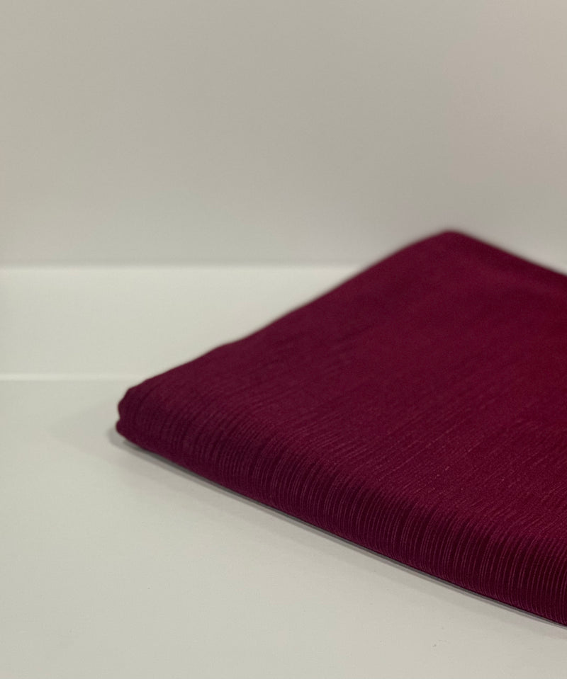 Maroon Ribbed Jersey Hijab UK