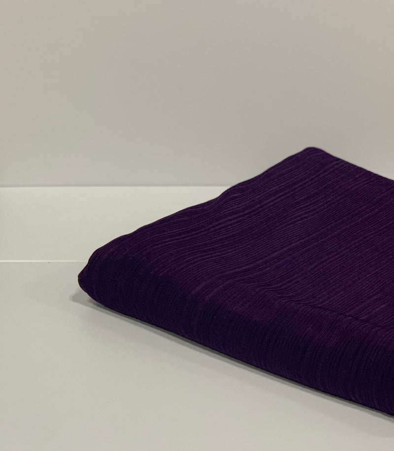 Purple Ribbed Jersey Hijab UK