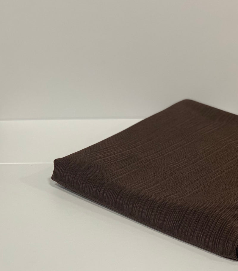Brown Ribbed Jersey Hijab UK