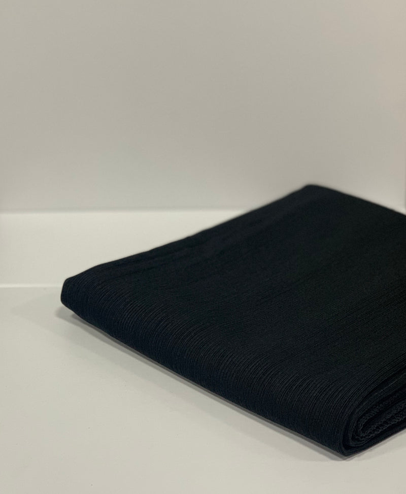 Black Ribbed Jersey Hijab UK