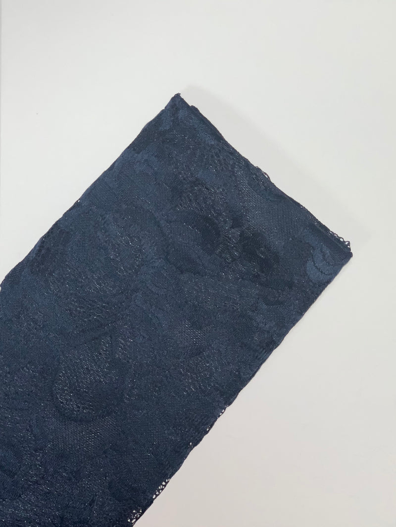 Navy Lily Lace Hijab UK