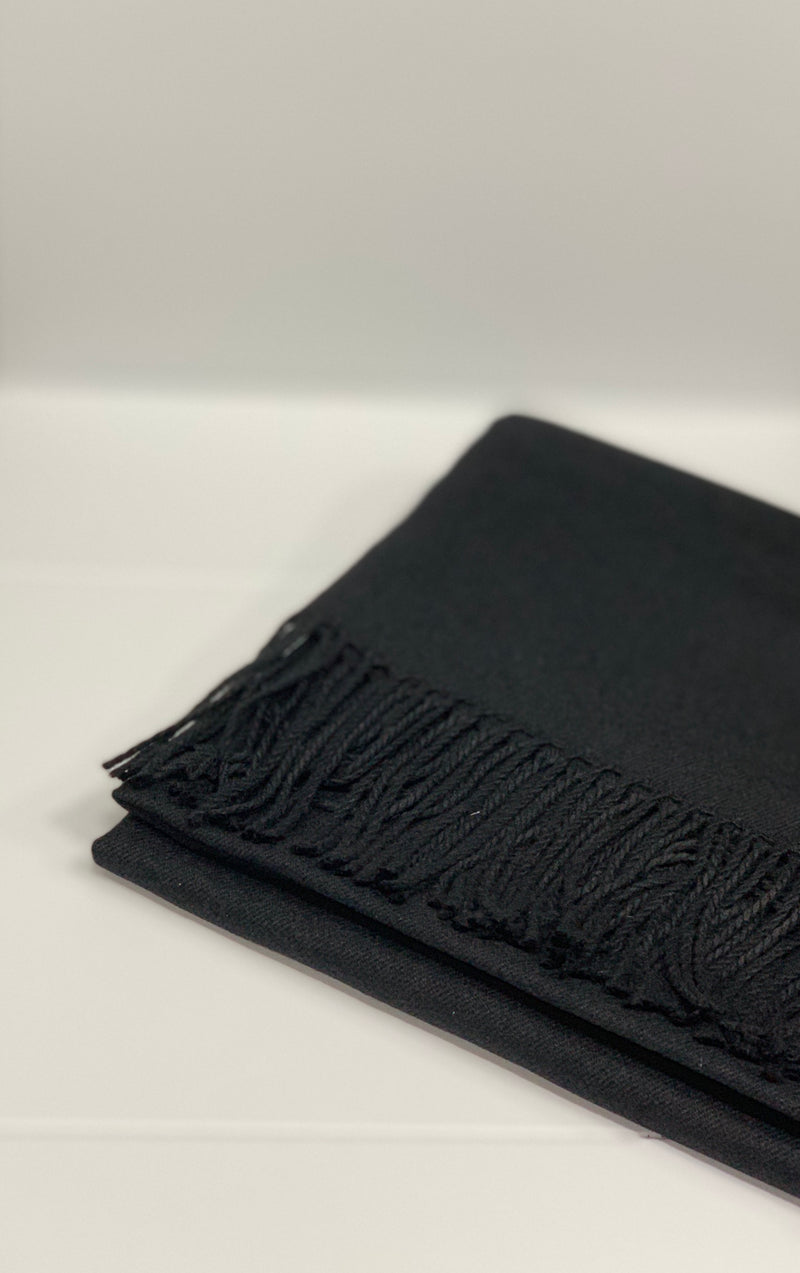 Black Cashmere Blend Pashmina Hijab UK