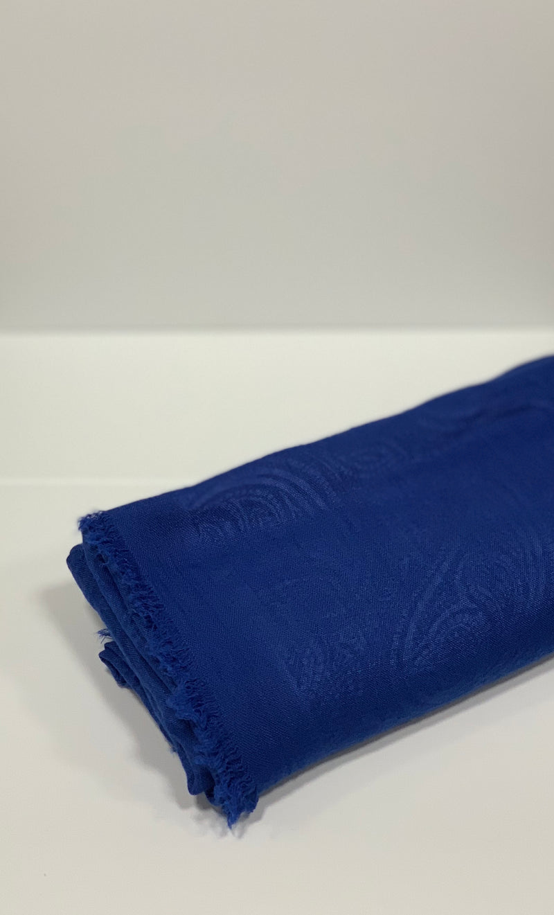 Blue Viscose Self-print Hijabs UK