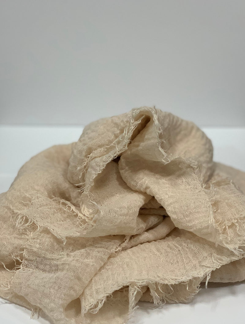 Light Beige Long Crinkle Hijabs Online