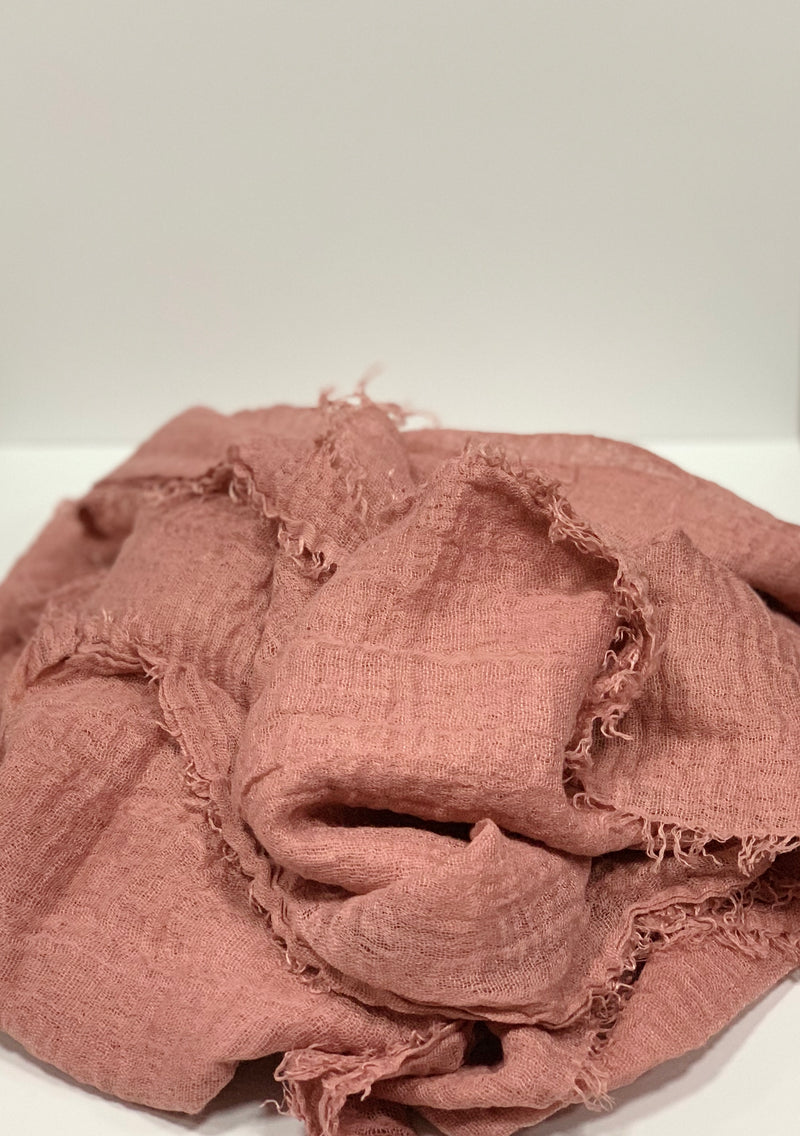 Dusty Pink Long Crinkle Hijabs Online