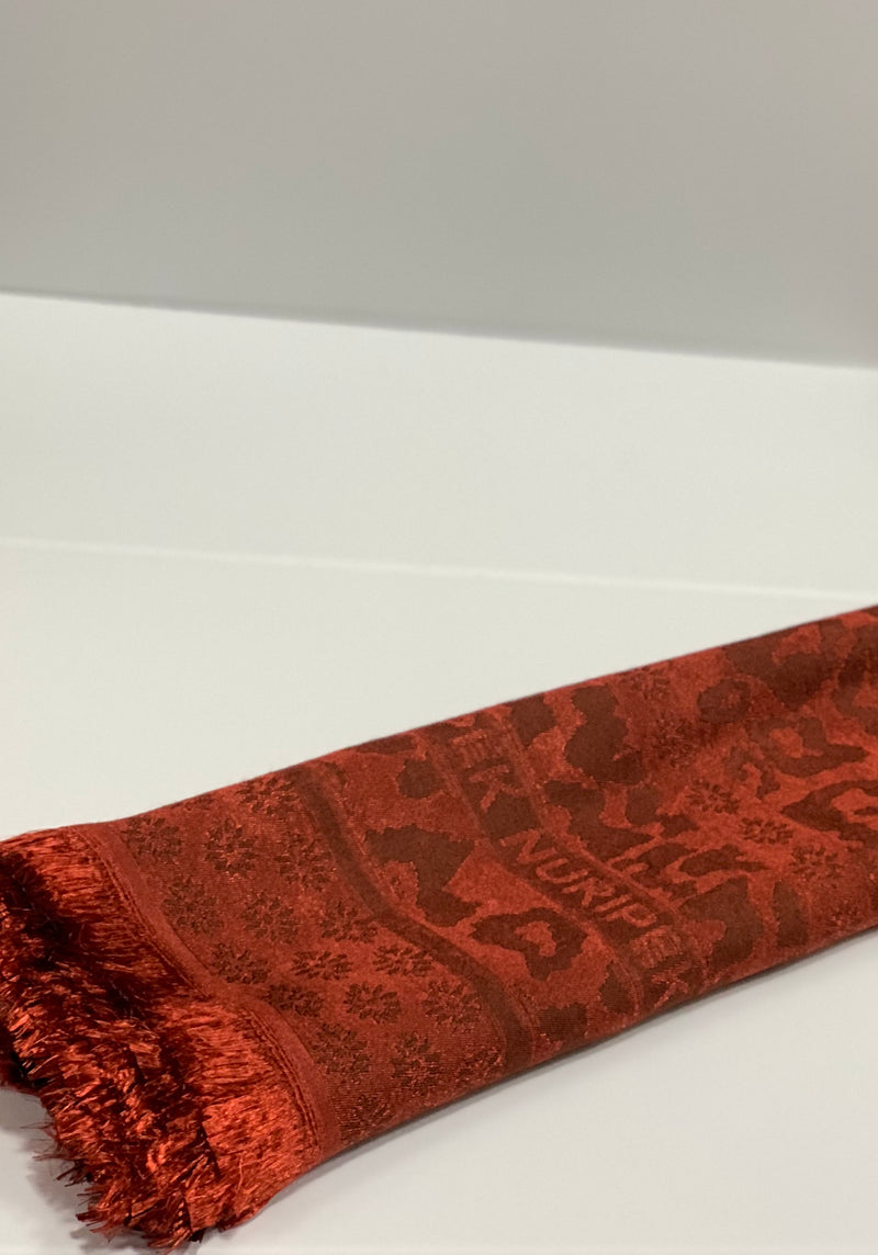 Blood Orange Jacquard Pattern Hijab Online