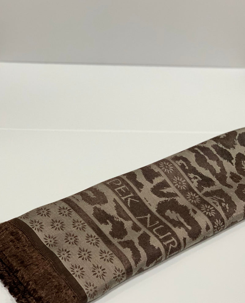 Brown Jacquard Pattern Hijab Online