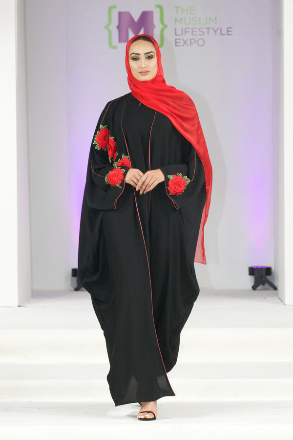 Red Rose Bisht Abaya UK