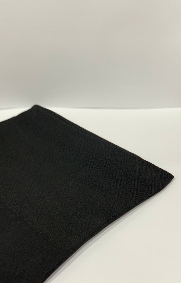Black Meander Pattern Square Hijab Online