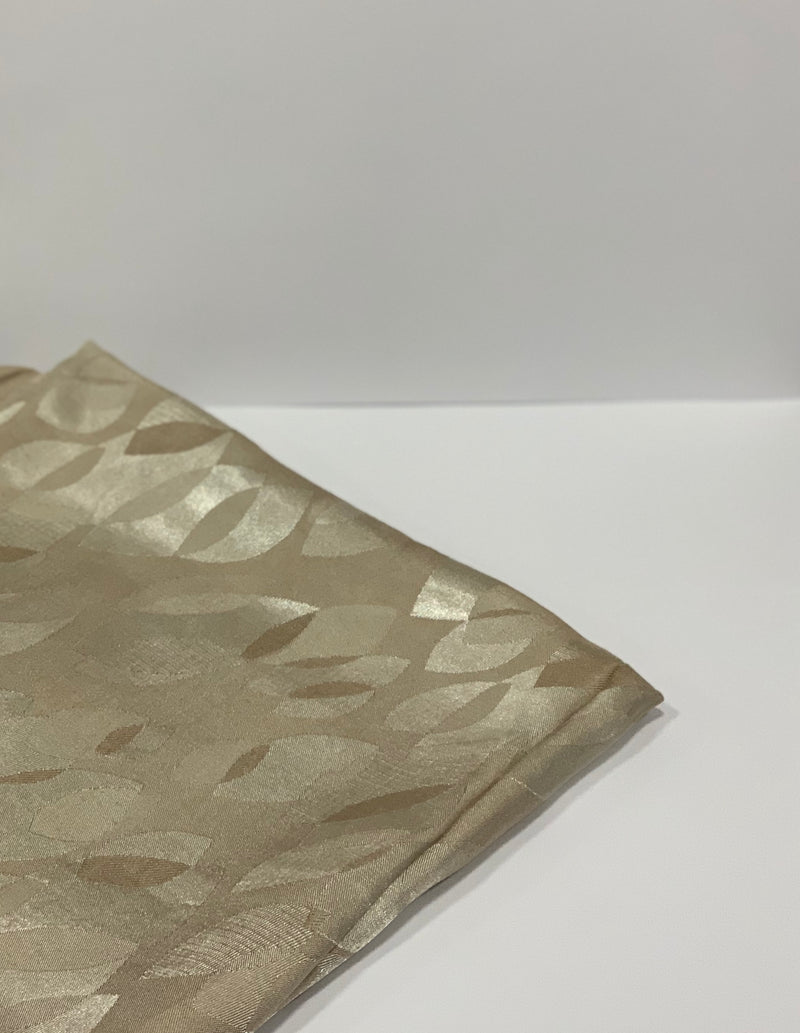 Cream Jacquard Leaf Pattern Square Hijab UK