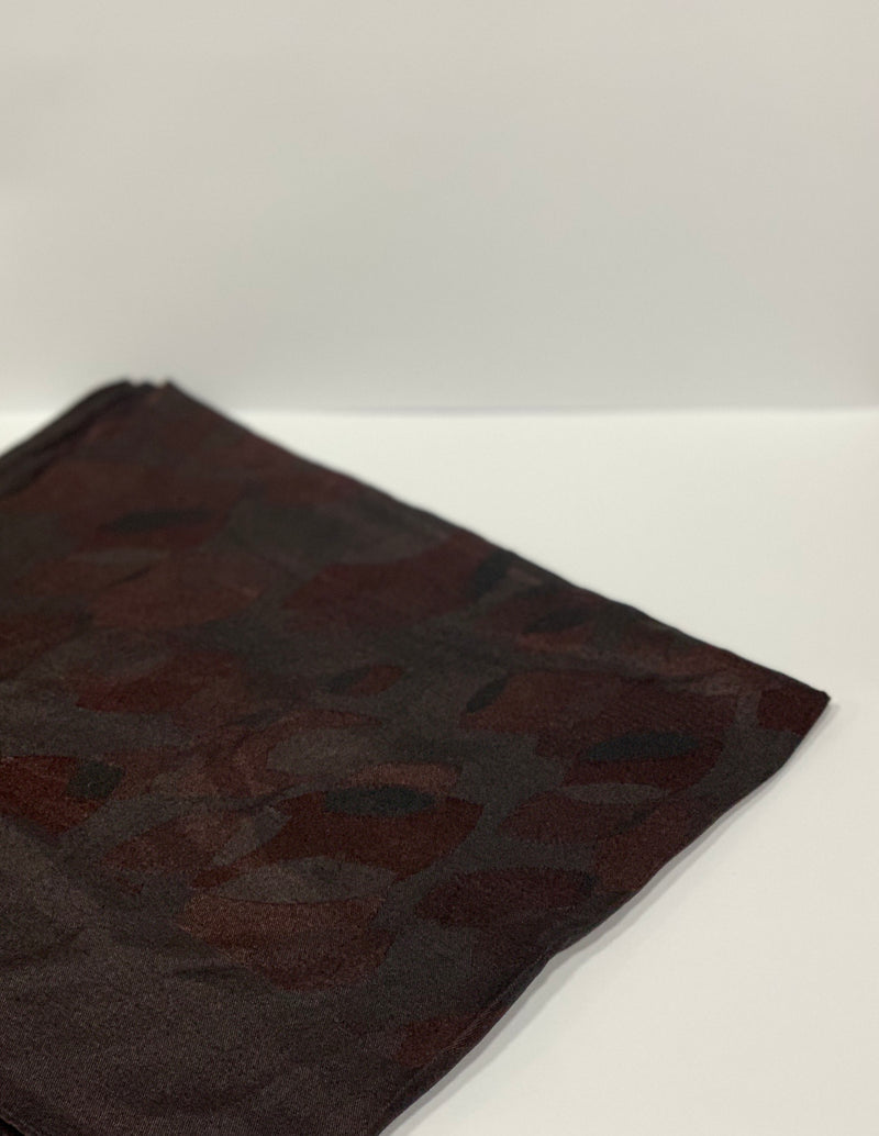 Maroon Jacquard Leaf Pattern Square Hijab UK
