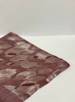 Rose Jacquard Leaf Pattern Square Hijab UK